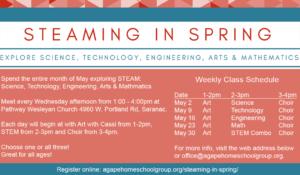 Agape STEAMing in May
