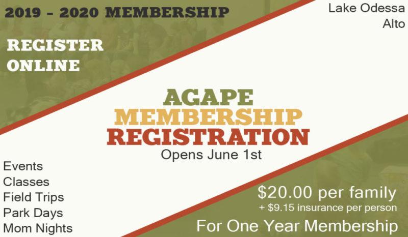 Agape Homeschool Membership Registration